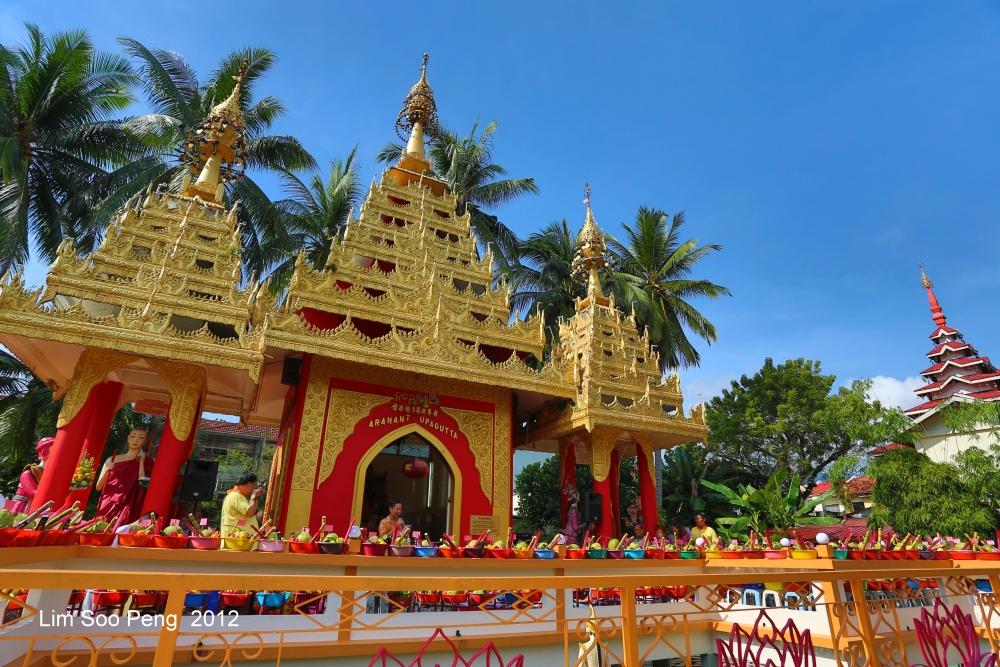 Arahant Upagutta Celebration at Dhammikarama Buddhist Burmese Temple, Penang (4/6)