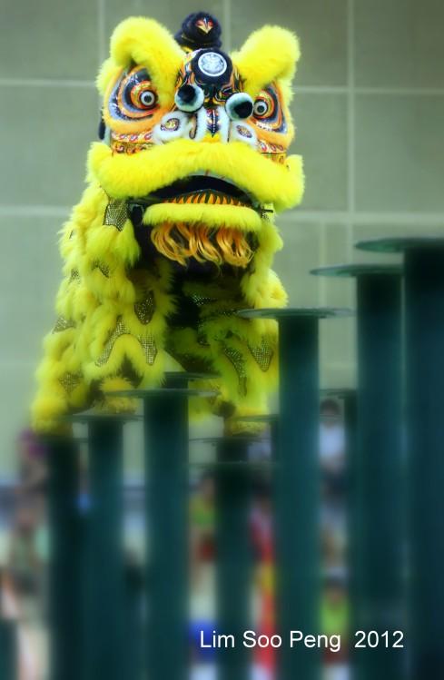 Lion Dance on Stilts
