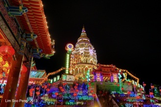 Kek Lok Si on Chinese New Year Nights