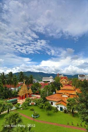 Burmese temple in Penang