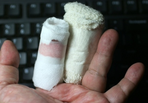 My two injured fingers