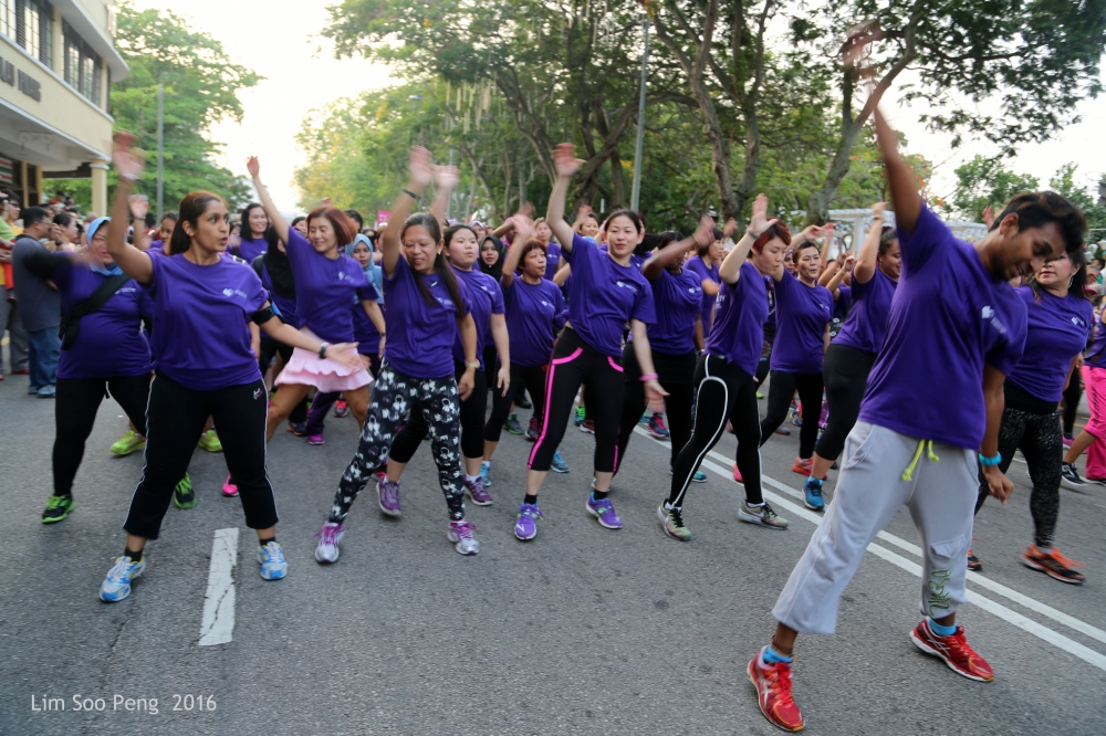 Women in the highly active, exercise mode.