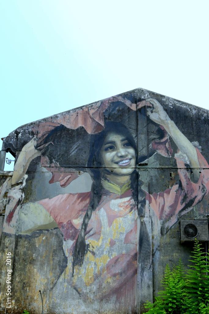 New wall mural at Balik Pulau, Penang. This photograph was taken on Saturday, April 23, 2016.