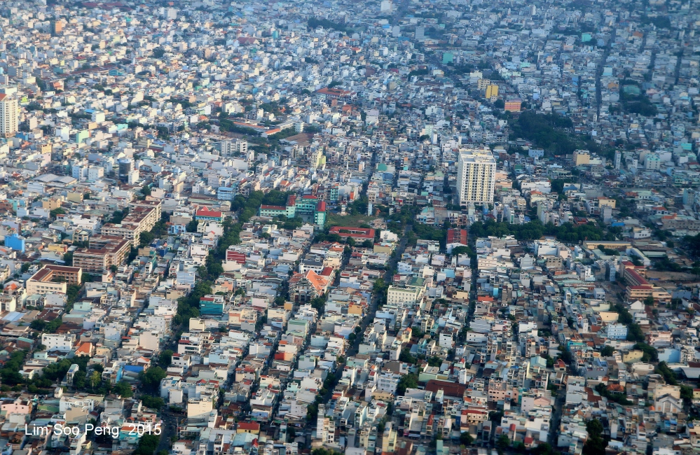 The aerial view of Ho Chi Minh City taken from my 2015 Trip to Vietnam.