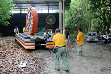 Moving Wesak Main Float for Procession to Malaysian Buddhist Association