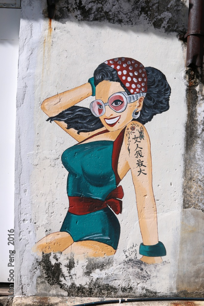 New wall mural at the Heritage Enclave of City of George Town, Penang, Malaysia