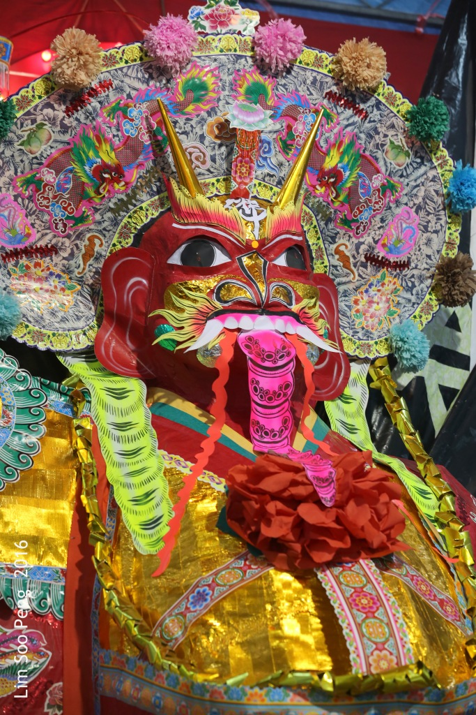 The Tai Soo Yah Image or Taoist King of Hades at Fettes Park Wet Market's Hungry Ghost Celebrations on Monday, 15 August, 2016.