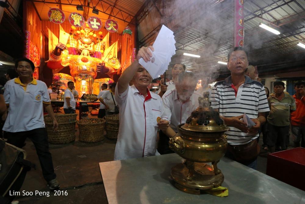 The Burning Ceremony of the Tai Soo Yah's image of Bukit Mertajam on Friday, 19 August, 2016 night.