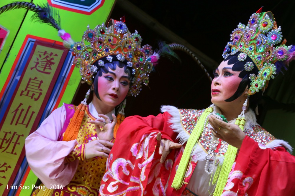 """The Teochew Chinese Opera or Wayang taken at Ayer Itam, Penang. - """" The Discussion of thr Mother and Daughter """""""