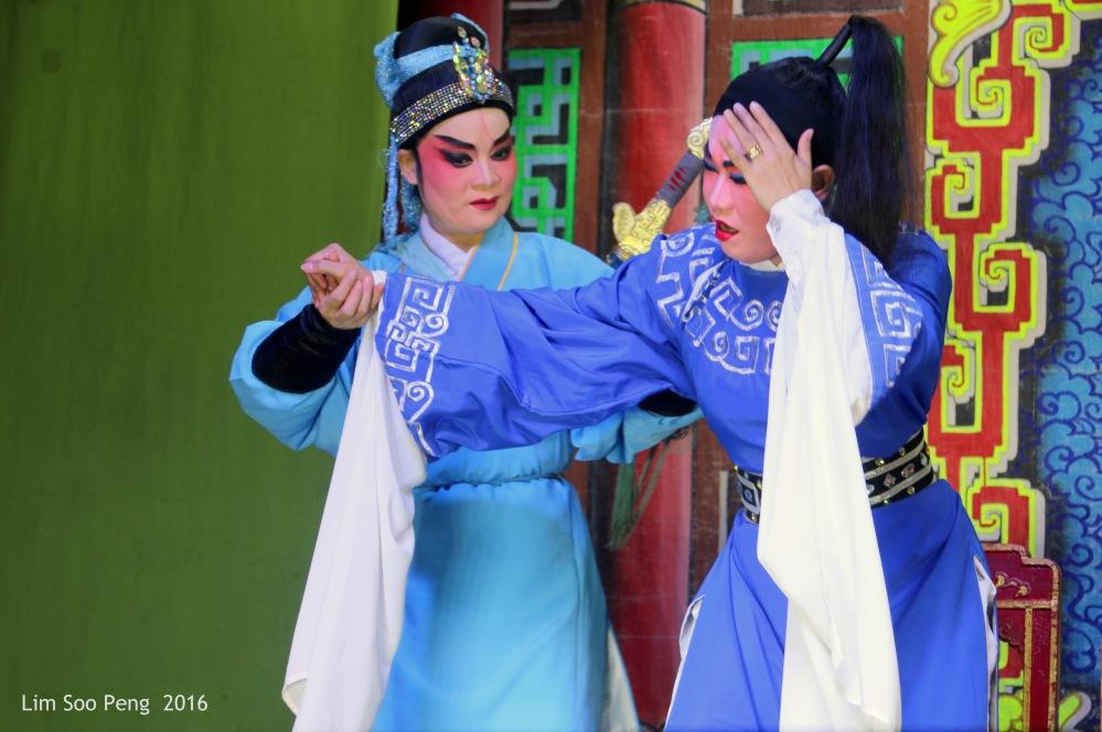 "The Teochew Chinese Opera or Wayang taken at Ayer Itam, Penang. "" Helping a Good Sick Friend """