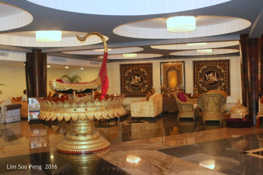 Our Family Adventure in Myanmar or Burma ~ Day 2.2 - Taw Win Hotel's Lobby.