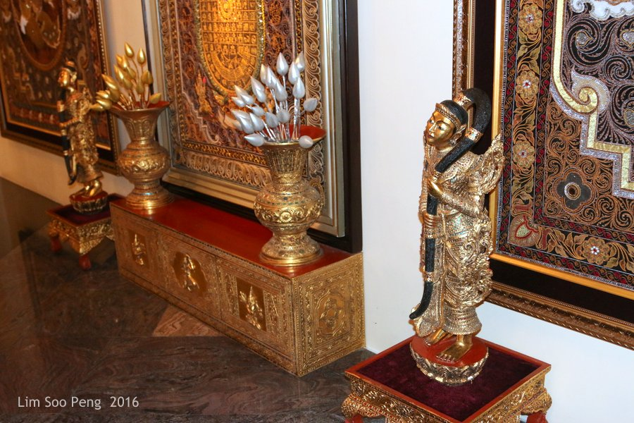 Our Family Adventure in Myanmar or Burma ~ Day 2.3 - Beautiful decorative items at the hotel lobby.