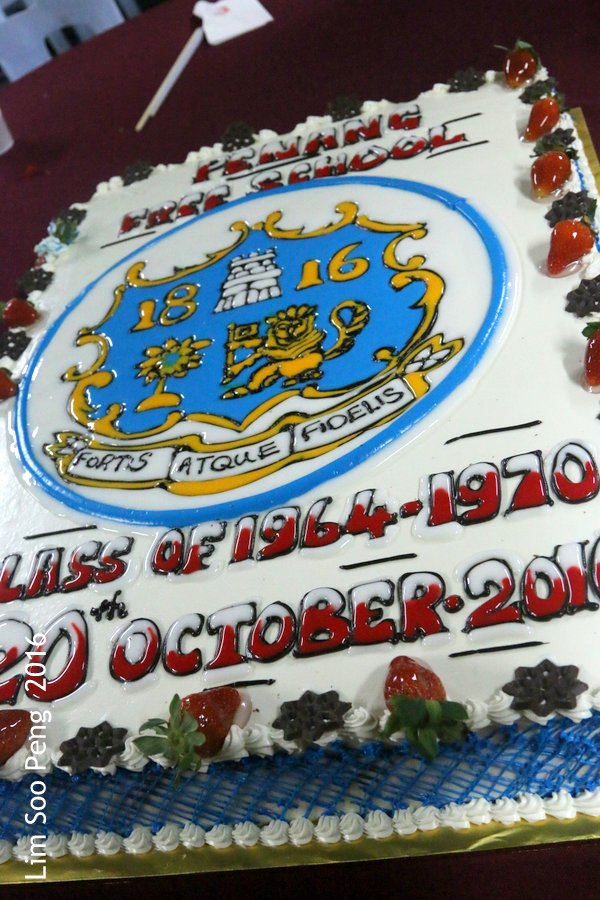 PFS Ferry Cruise and Bicentenary Dinner of Class of 1964 - 1970. The Birthday Cake for the October babies.
