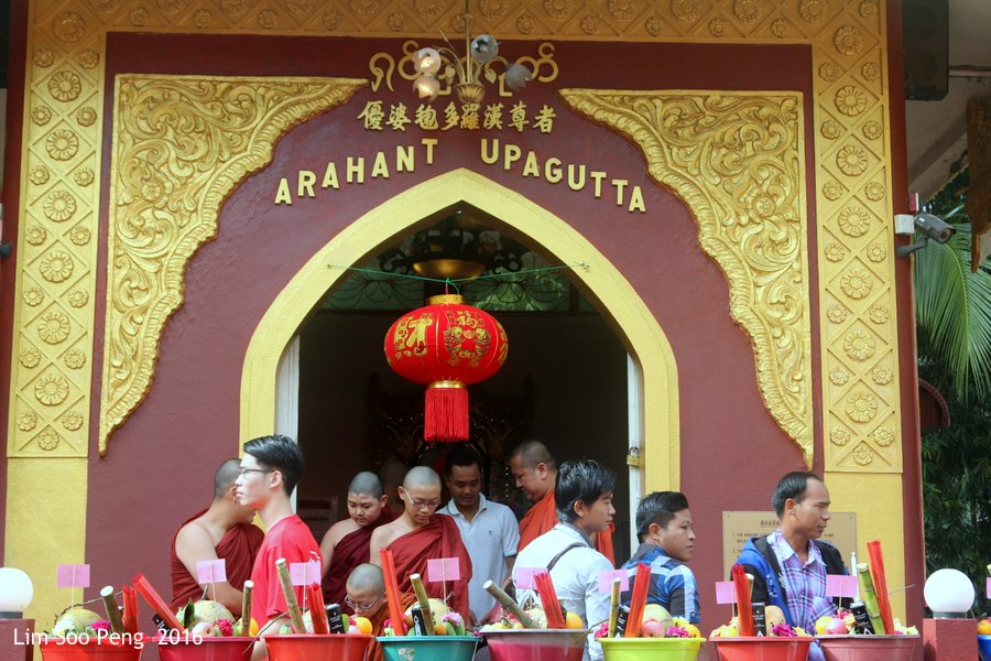 Arahant Upagutta's Prayer Ceremony at Dhammikarama Burmese Buddhist Temple, Penang on Sunday, 4th December, 2016.