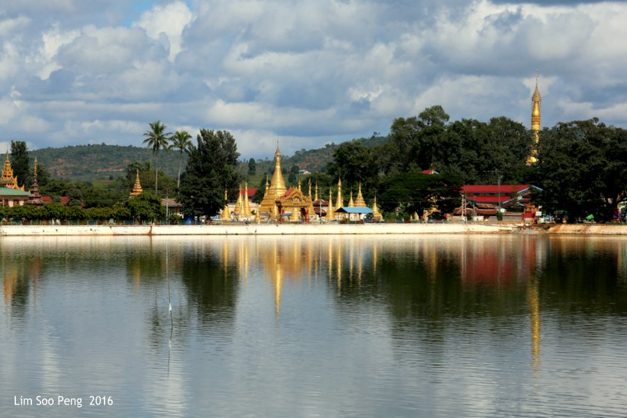 Somewhere in the Shan State of Myanmar - like the reflection so ignoring the Rule of the Third. Taken hand-held.