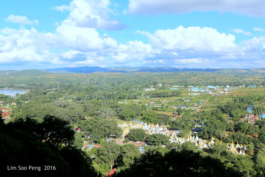 View from the entrance to Pindaya Caves, Shan State, Myanmar.