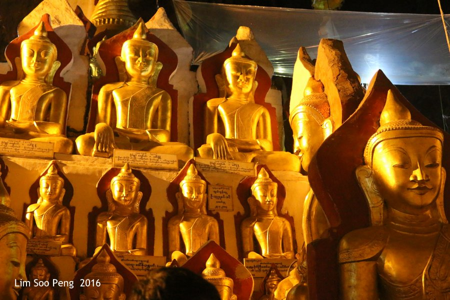 Over 8,000 Buddhist Images are to be found in Pundaya Caves Temple of Burma.