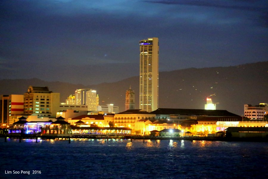 Night Scene of George Town from the Ferry