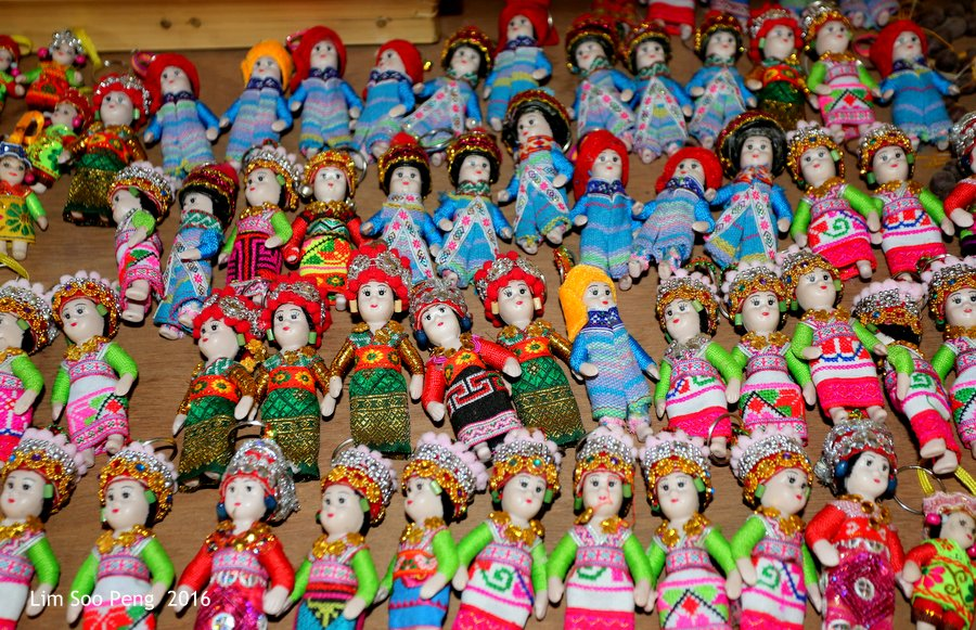 Little dolls of the Hill Tribes of Myanmar or Burma