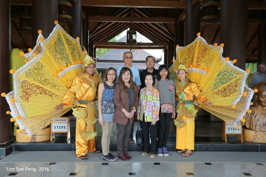 Our Travel Group Photograph at Aureum Palace Resort and Spa, Inle Lake, Myanmar.