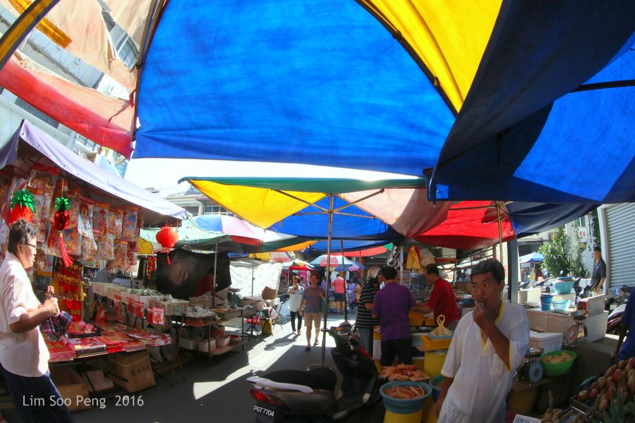 At the Chowrasta Wet Market, George Town, Penang