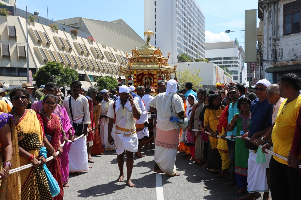 Penang Thaipusam 2017 with two Chariots of Gold and Silver. This is the latest Golden Chariot effective this year.